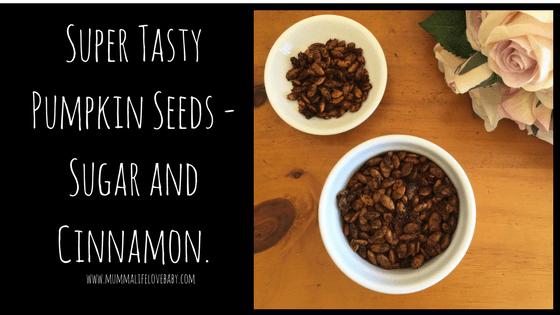 Super Tasty Pumpkin Seeds - Sugar and Cinnamon