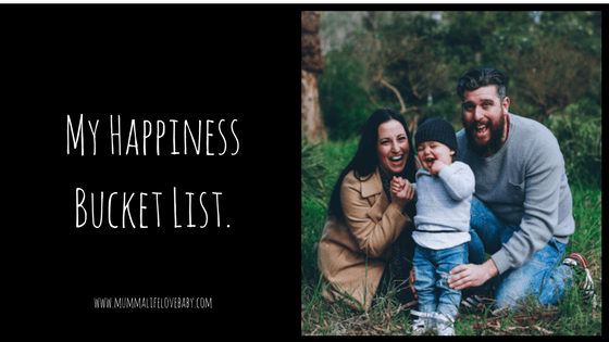 My Happiness Bucket List